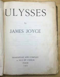 Ulysses title page.